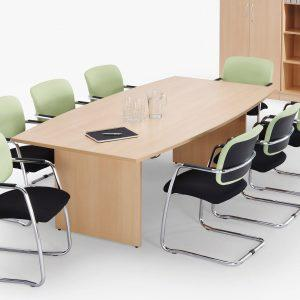 Barrel Top Panel Leg Meeting Table - L2400-73