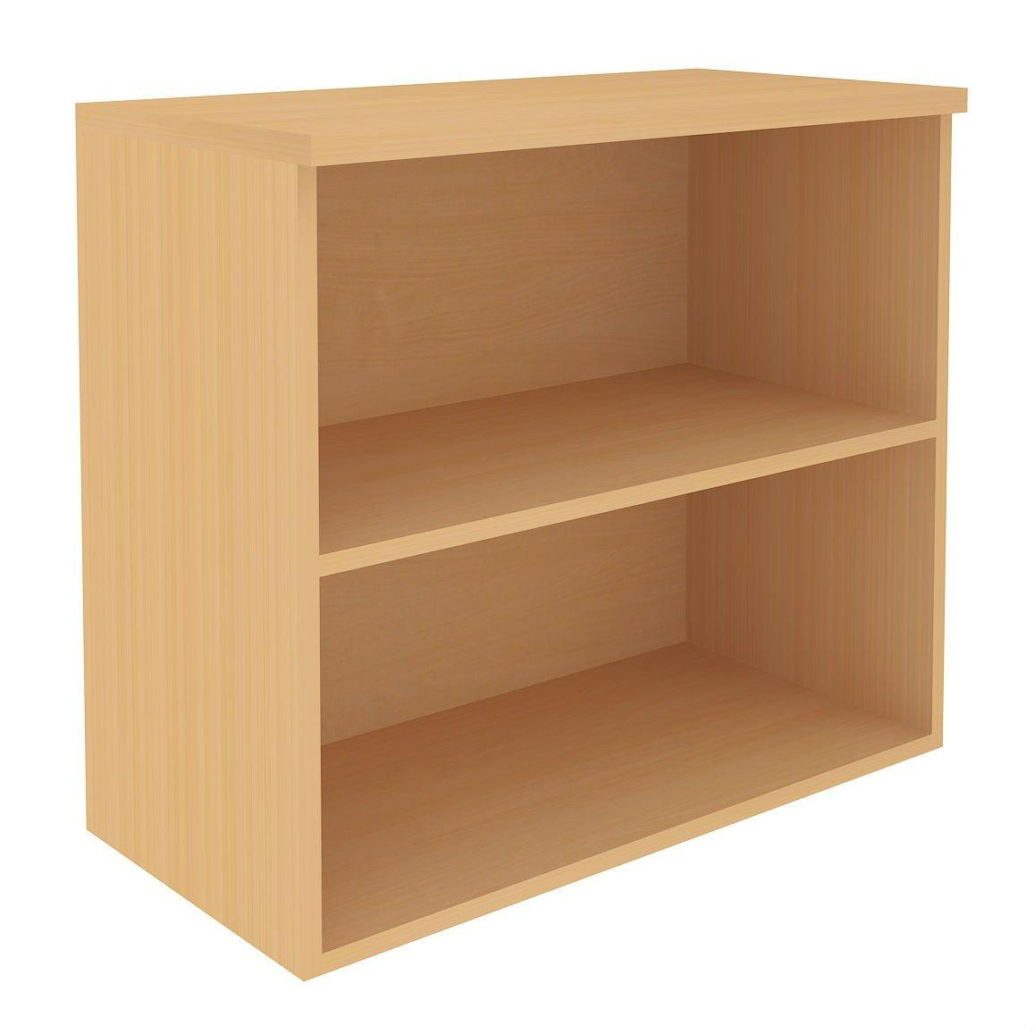 Desk Height Cupboard, Shallow open front unit with 1 shelf, W800-0
