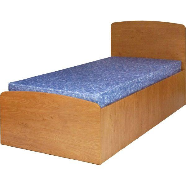 Valerio Box Bed Base - Single, showing mattress