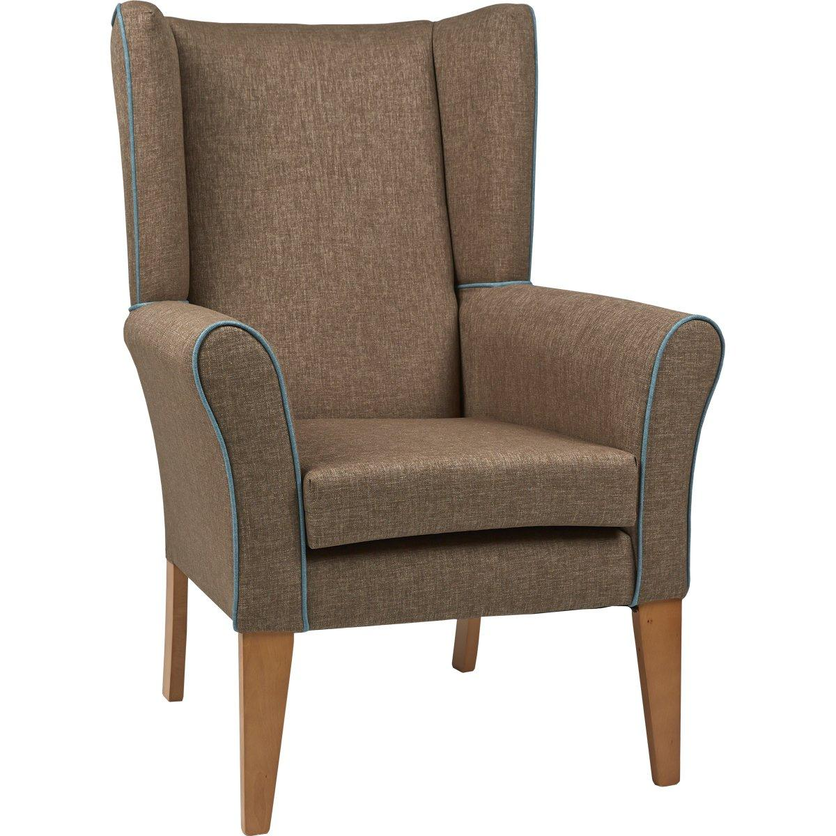 Cambourne high back chair with wings furncare for Armchair with high back