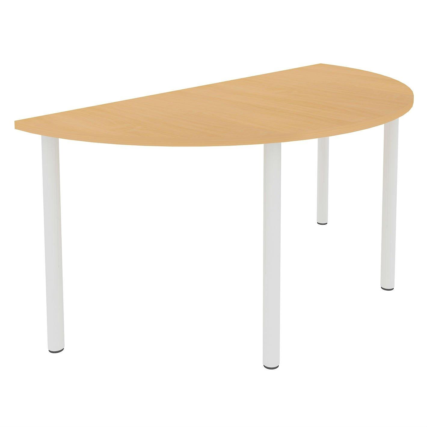 Half Round Fixed Pole Leg Meeting Table - W1600-0