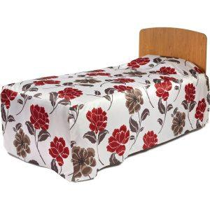 Box Fitted Bedspread (Kick Pleats) - 220g Printed Fabric-1667