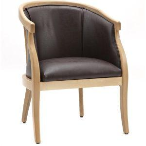 Narken Tub Chair Chestnut Faux Leather