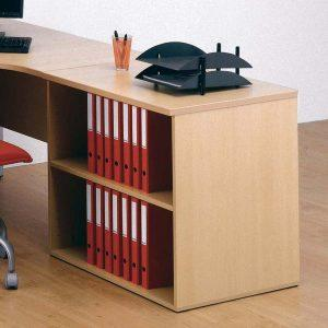 Desk Height Cupboard, Open front unit with 1 shelf, W800-617