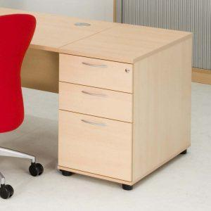 Desk Height Pedestal, 2S+1F Drawers, W430, (full depth file drawer)-621