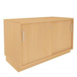 Desk Height Cupboard, Lockable sliding doors (Internal shelf), W1200-0