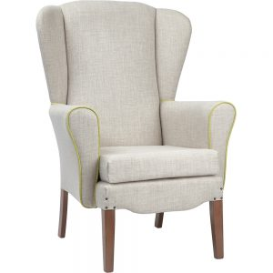 Bentley Wingback Care Home Chair Tapered Leg