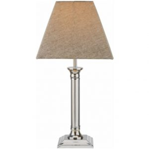 Windmere Table Lamp - Chrome Base with Grey Shade-1508