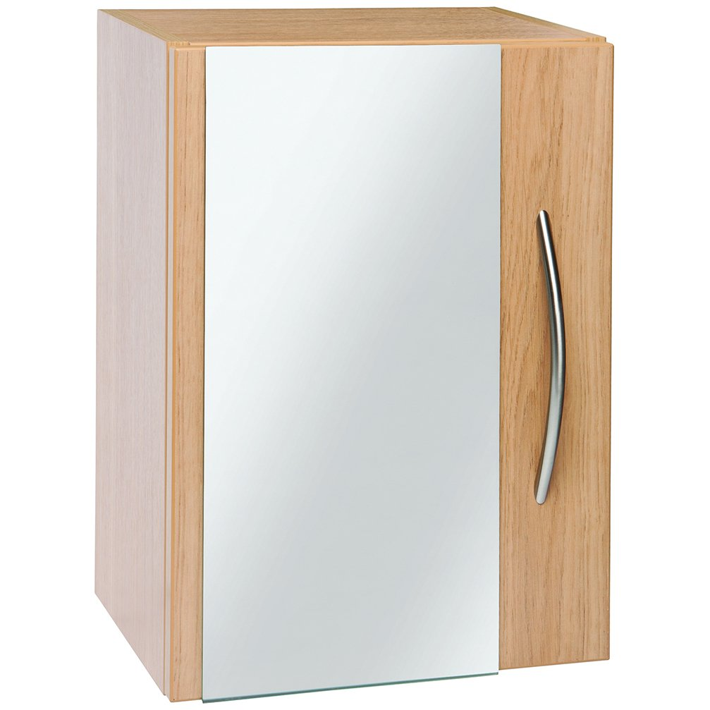 Wall Mounted Single Door Cabinet with Mirror