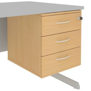 Fixed Pedestal Unit With 3 Standard Drawers