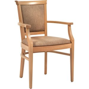 Kalmar Dining Chair in Santos Mink Upholstery
