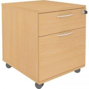 Low Mobile Pedestal, 1S + 1F Drawers, W415-0