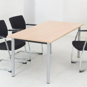 Rectangular Fixed Pole Leg Meeting Table-607
