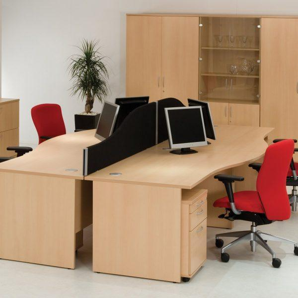 Right Hand Wave Desk