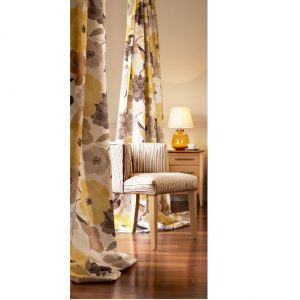 Bohemia Lemon Silver Curtains