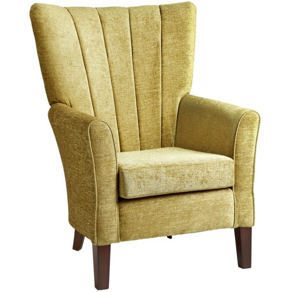 Torino Fluted High Back Chair
