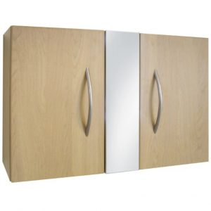 Wall Mounted Double Door Cabinet with Mirror
