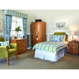 Marcello Bedroom Furniture Package in Teal Scheme