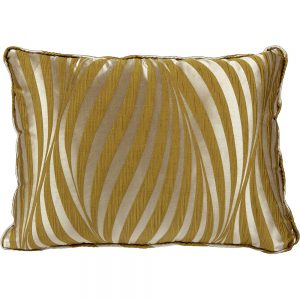 Piped Cushion In Gold Fabric